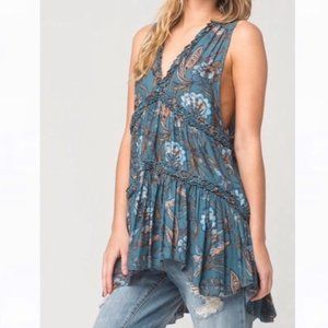 Free People Floral Print Tunic